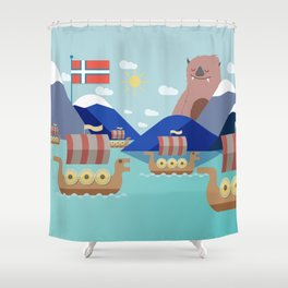 Fjords of Norway pt.2 Shower Curtain