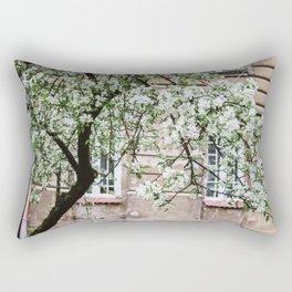 Spring Tree Blossoming In Krakow Rectangular Pillow