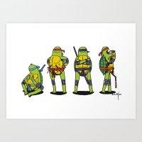 teenage mutant ninja turtles Art Prints featuring Teenage mutant ninja turtles by Nioko