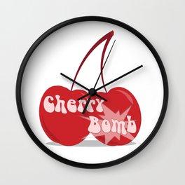 CherryBomb Wall Clock