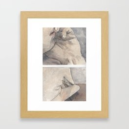 On the Bed Framed Art Print