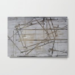 Tape Marks Metal Print