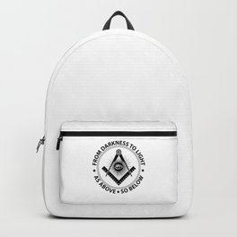 Freemasonry emblem Backpack