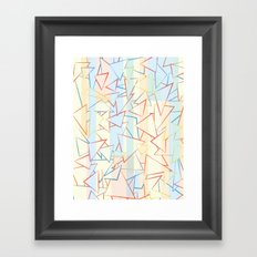 Attack of the Triangles. Framed Art Print