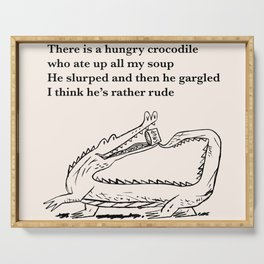 There Is a Hungry Crocodile Serving Tray