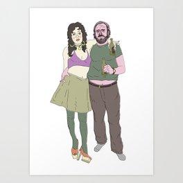 greeting from Bukowski Art Print