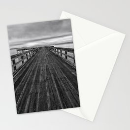 Bevan Fishing Pier - Black and White Stationery Cards