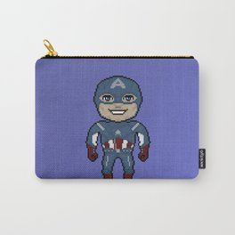Pixelated Heroes Capt. America Super Hero Carry-All Pouch