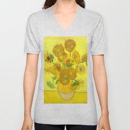 Sunflowers - Van Gogh Unisex V-Neck