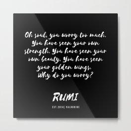 32   Rumi Quotes Good Vibes 190514 Metal Print