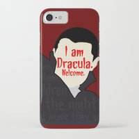 dracula iPhone & iPod Cases featuring Dracula by Swell Dame