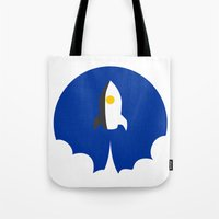 interstellar Tote Bags featuring Interstellar by Sumalab