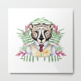 Mr Cat Metal Print