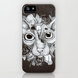 Kitty's Pretty Floral Mane iPhone Case