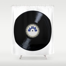Blues Style Record Shower Curtain