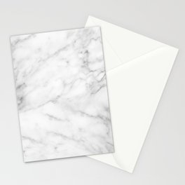 White Marble Print III Stationery Cards
