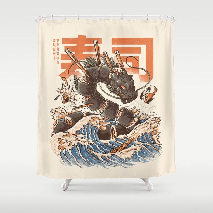 Great Sushi Dragon Shower Curtain