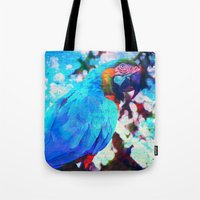 parrot Tote Bags featuring Parrot by haroulita