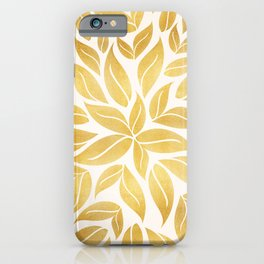 Golden Leaf Mandala iPhone Case