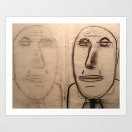 mirror of charcoal Art Print