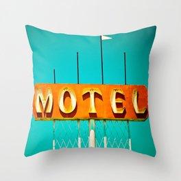 Frontage Motel Throw Pillow