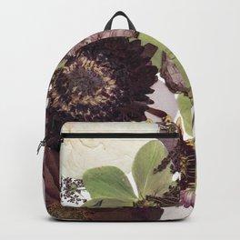 Dark Pressed Florals Backpack