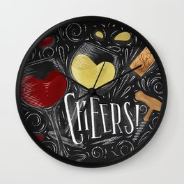 Cheers black Wall Clock
