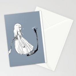 With a shadow cat Stationery Cards