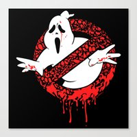 ghost busters Canvas Prints featuring SCREAM BUSTERS by Henry Quiara