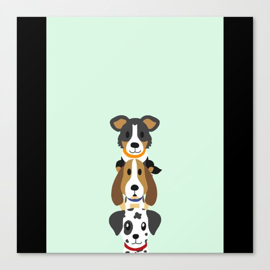 Too many dogs Canvas Print