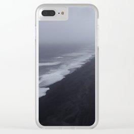 Vanishing point - Dyrholaey, Iceland Clear iPhone Case