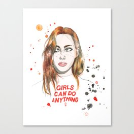 Girls can do anything! Canvas Print
