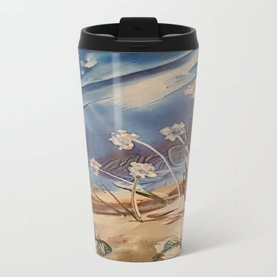 Spring White flowers Metal Travel Mug