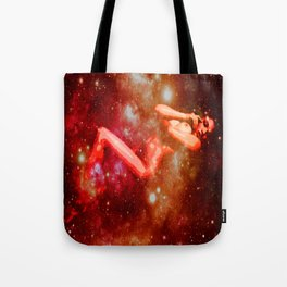 Red Galaxy Woman : Nude Art Tote Bag