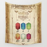hyrule Wall Tapestries featuring Legend of Zelda - Tingle's The Rupees of Hyrule Kingdom by Barrett Biggers