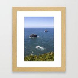 pillar and pyramid rock - cape meares Framed Art Print