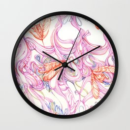 Insect textile n0.1 Wall Clock