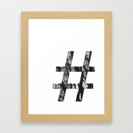 Minimal Number Sign Print With Photography Background Framed Art Print