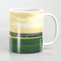 battlefield Mugs featuring Overlooking the battlefield by Danielle W