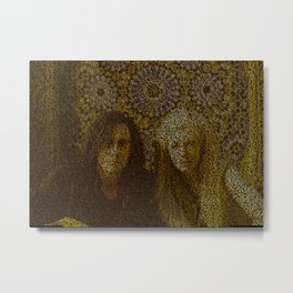Text Portrait of Adam and Eve  Metal Print