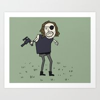 Sad Snake Plissken In A Field Art Print