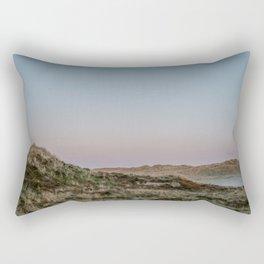 Foggy dunes on the Island Terschelling || Travel photography nature wilderness hills outdoor green Rectangular Pillow