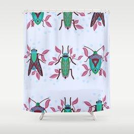 Pretty Bug Garden Shower Curtain