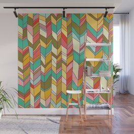 Knitted Pattern Wall Mural