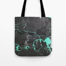 Grey and Blue Marble Tote Bag
