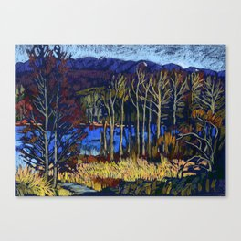 Deer Lake Park. Burnaby, BC, Canada. Canvas Print