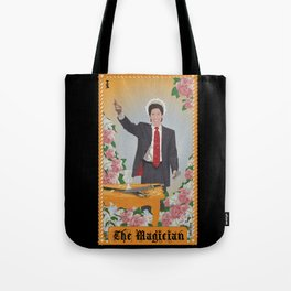 "Celerity Tarot: Joel Osteen as ""The Magician"" Tote Bag"