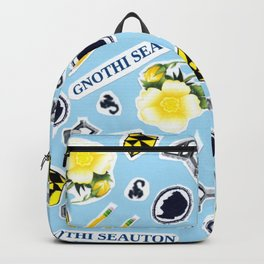 Blue ChaRActer Collage Backpack