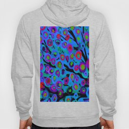 Blue Trees in The Wind Hoody