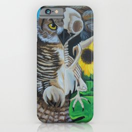 Life in Death: The Great Horned Owl iPhone Case
